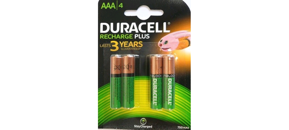 Duracell Supreme AAA Rechargeable Battery 750mAh S5272