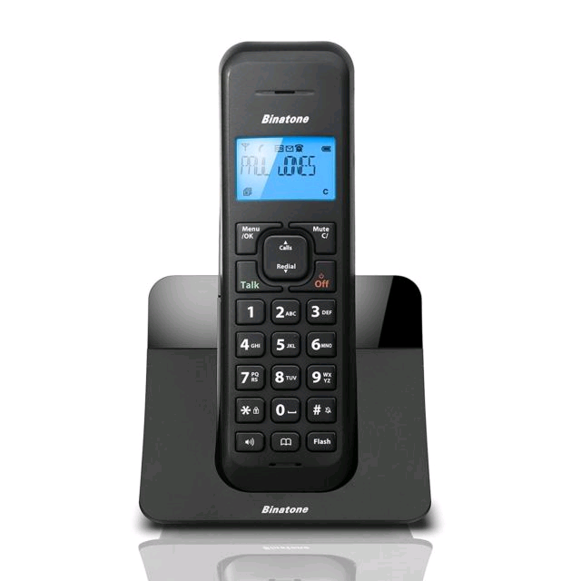 Binatone Luna Cordless Phone Single Handset with Answer Machine