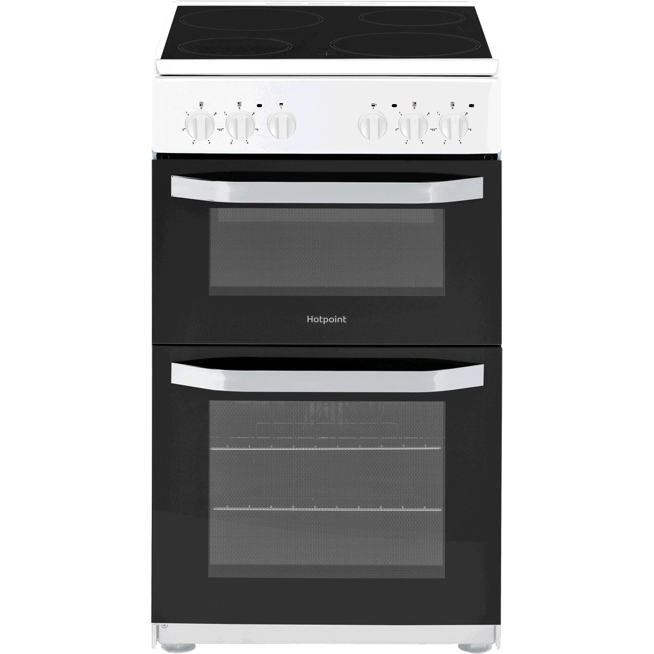 Hotpoint Cloe HD5V92KCB 50cm Electric Cooker with Ceramic Hob - White B Rated