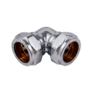 Chrome Elbow 15mm Compression