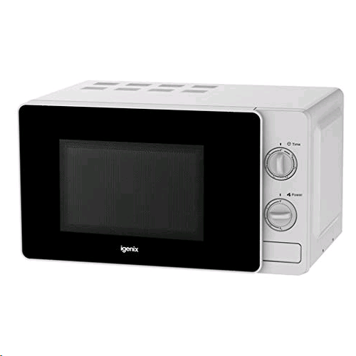 Igenix 20Ltr 800w Manual Microwave White