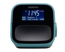 Goodmans NOD DAB Alarm Clock with x2 USB For Charging Aux Connection BLUE
