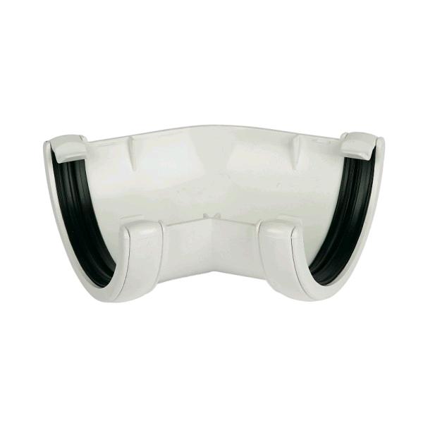 Floplast Hi-Cap 135° Angle Guttering White RAH2W