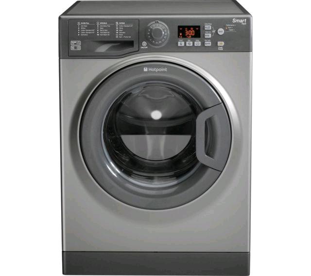 Hotpoint 8kg 1600 Spin Washing Machine Graphite Silver