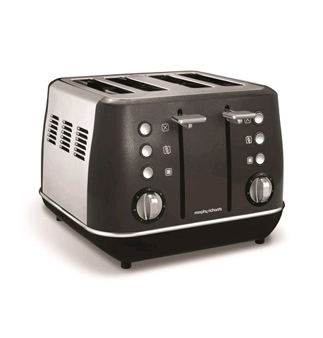 Morphy Richards Evoke 4 Slice Toaster Black