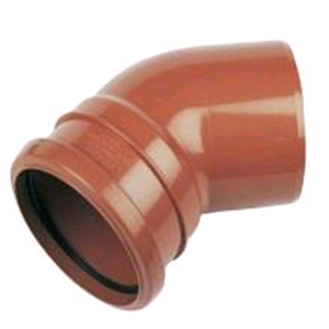 Underground 110mm 45deg Bend M/F Terracotta D163 SOIL