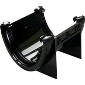 Floplast 112mm Half Round Union Bracket Black