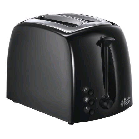 Russell Hobbs 2 Slot Textures Toaster BLACK