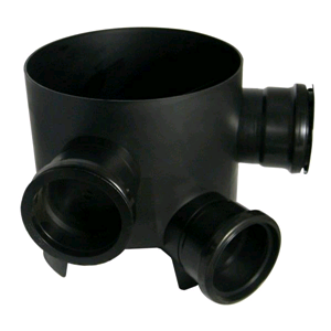Chamber Base 270mm 45deg Inlet 3 x 110mm Fixed Inlets D810 SOIL