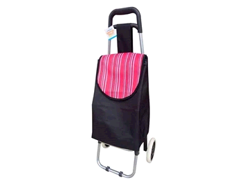 Highlight Shopping Trolley Black w/ Red Stripes