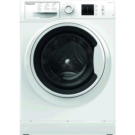 Hotpoint NM10944WW Washing Machine 9KG 1400 Spin A+++ Steam Pack Rapid  Stop and Add