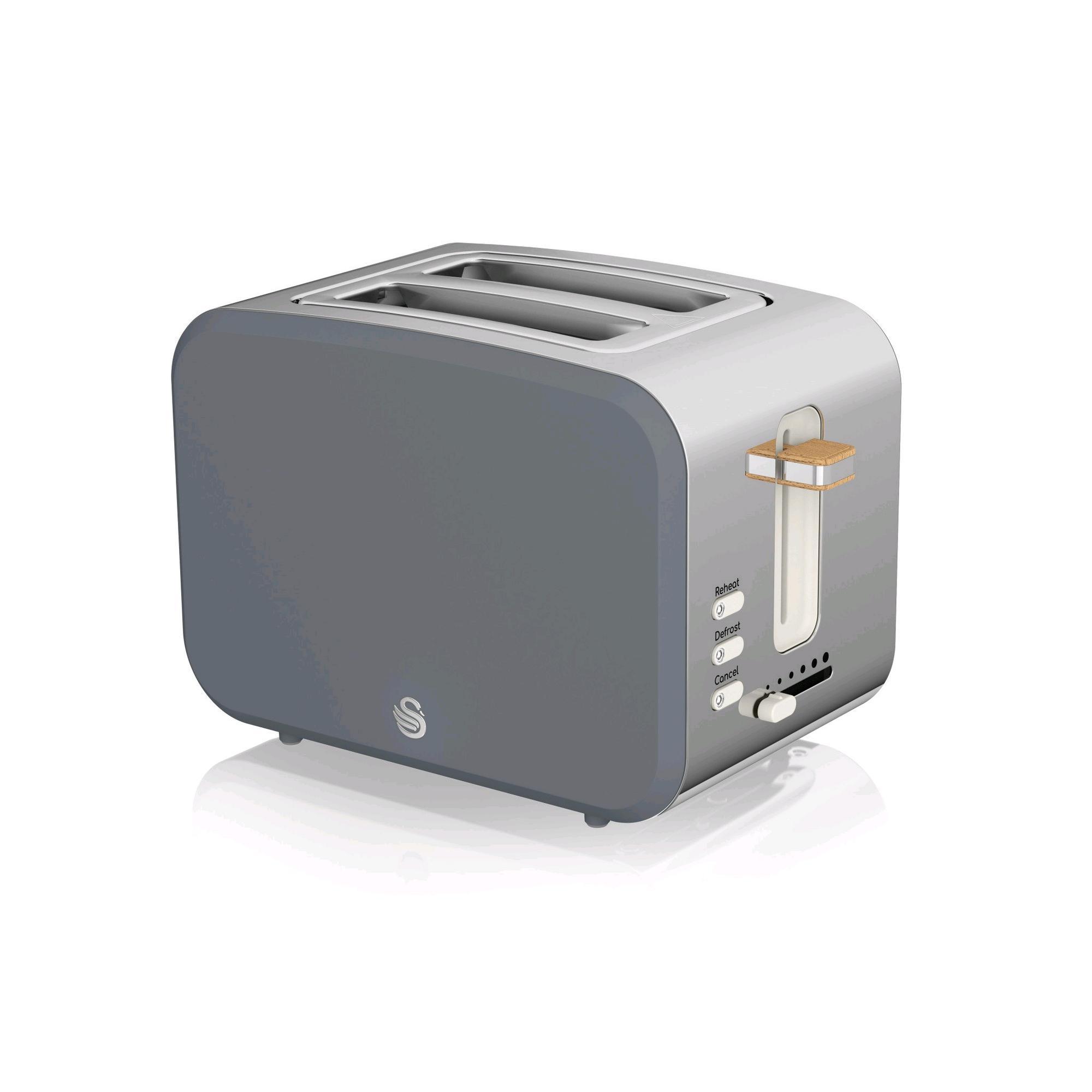 Swan Nordic 2 Slice Toaster Grey