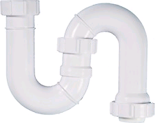 Polypipe Tubular Swivel S Trap 32mm. 75mm Seal