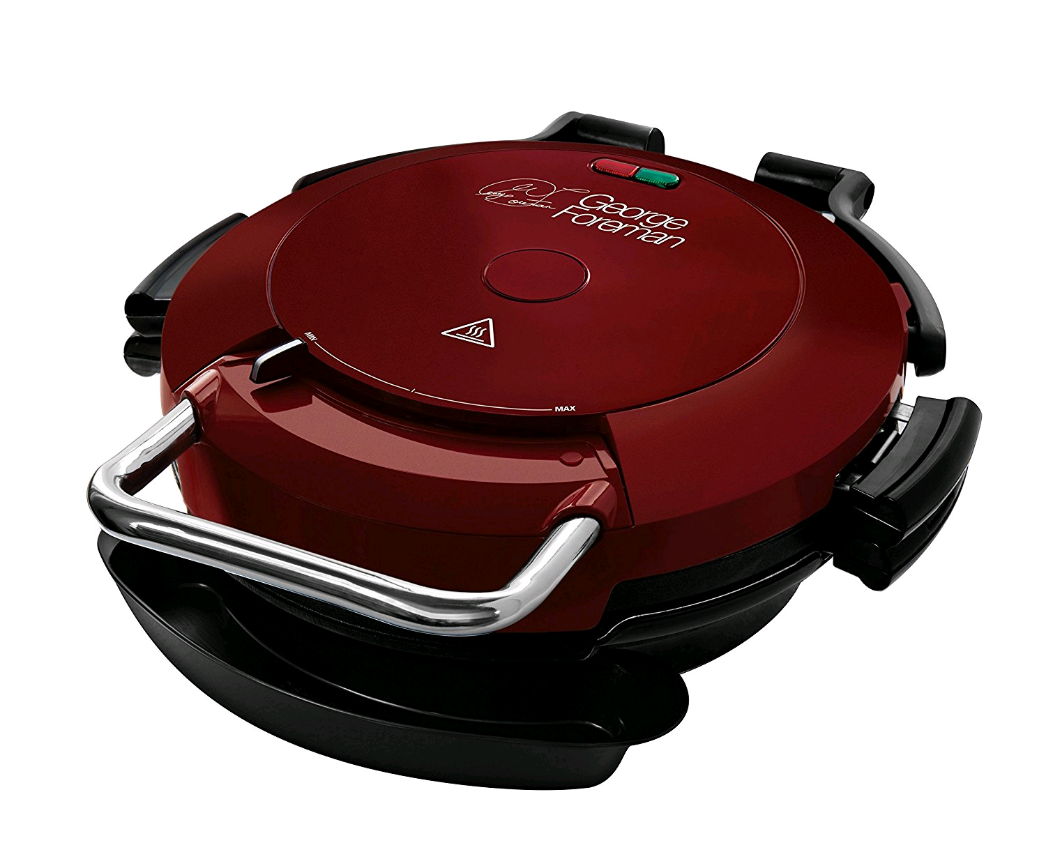 George Foreman 24640 7-Portion Entertaining 360 Grill, 1750 W, Red