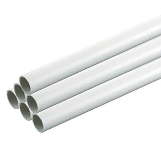 Falcon Heavy Gauge Conduit 20mm White (per 3mtr Lth) (30 in a pack)