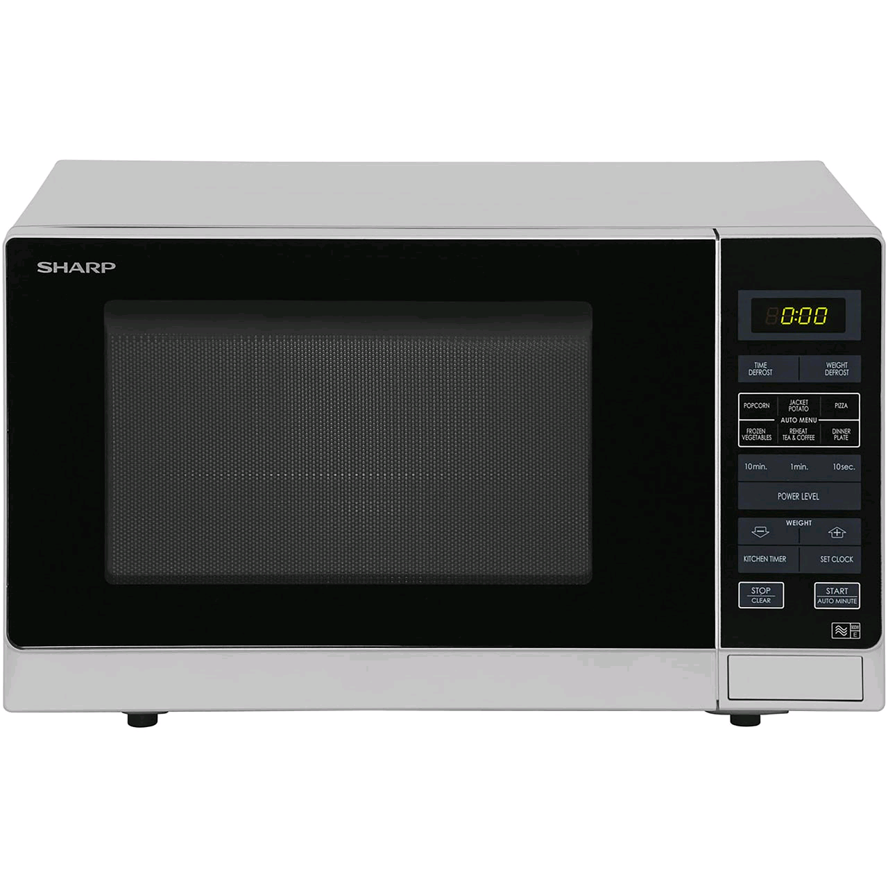 Sharp Microwave Touch Control Silver 25Ltr