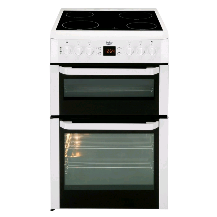 Beko Freestanding Cooker White Ceramic Top H90 W60 D60