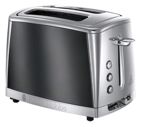 Russell Hobbs Luna 2 Slice Toaster- Grey
