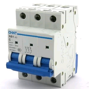 "Chint 6A 3 Pole ""C"" Rated 10kA MCB"