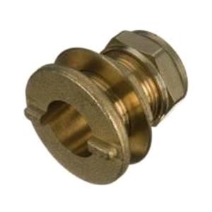Copper Straight Tank Connector 22mm Compression