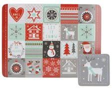 CREATIVE TOPS EH ALPINE CHRISTMAS MATS & COASTERS SET X4