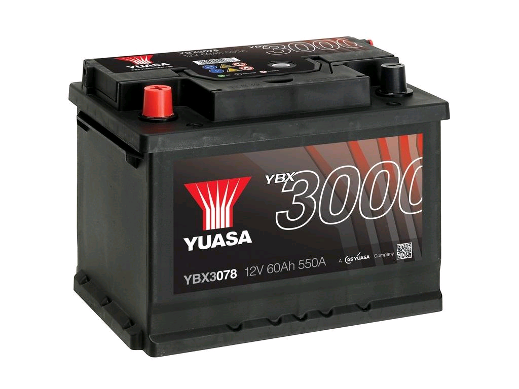 Yuasa SMF 12V Battery 60Ah 550A