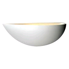 Saxby Mini Crescent Wall Light - White Plaster