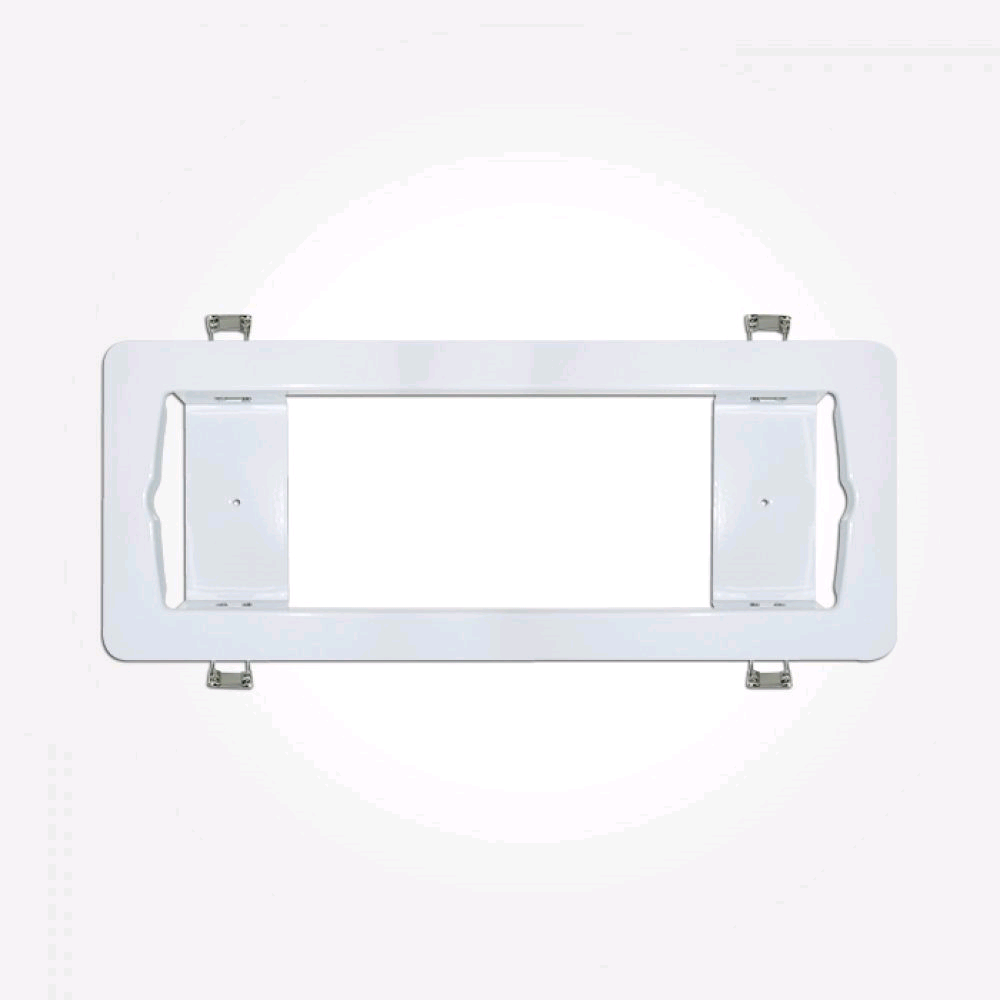 Eterna Semi-Recessed Emergency Bulkhead Frame White