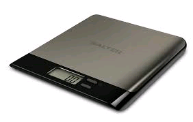 Salter Electronic Kitchen Scales -Stainless Steel  - LCD Display Square