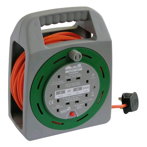SMJ CT2010 EASIREEL 4 SOCKET WITH THERMAL CUT OUT 20M
