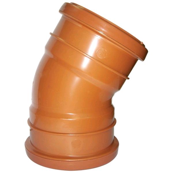 Floplast 160mm Double Socket Bend 30deg 6D654