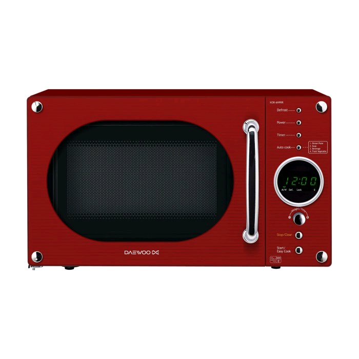 Daewoo Retro Red Design Microwave 800W 23L