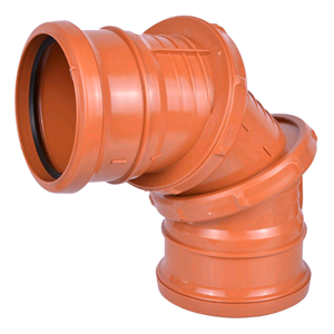 Underground 110mm Adjustable Bend D560 Terracotta SOIL