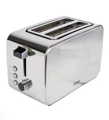 Igenix 2 Slice Toaster Stainless Steel Polished & Brushed