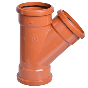 Floplast Underground 45deg Triple Socket Junction D211 SOIL