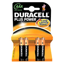 Duracell Battery 1.5Volt AAA Carded 4Pack Alkaline Plus