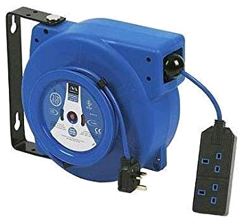 BG Wall Mounted Cable Reel Retractable 20mtr + Cut Out