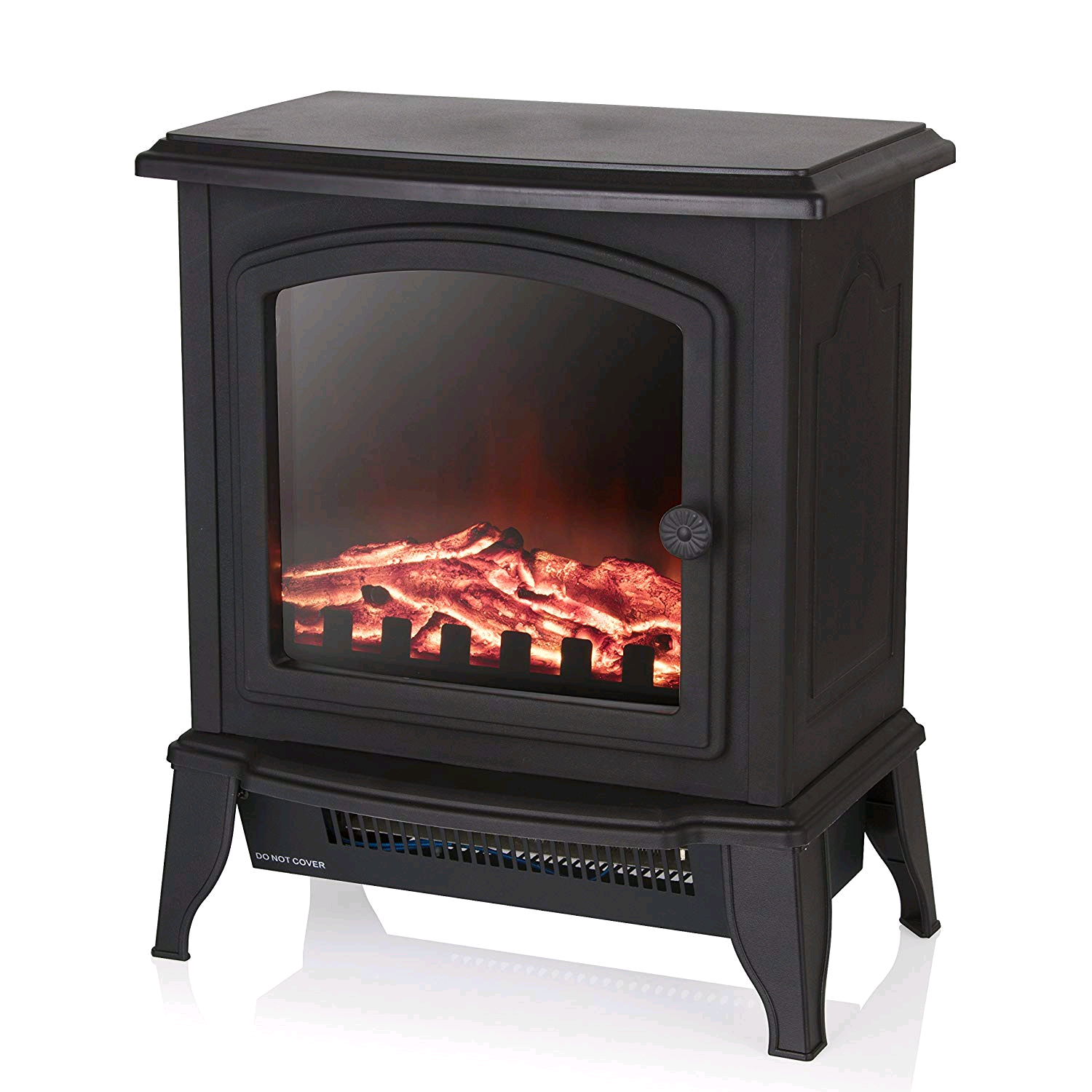 Warmlite WL46021 Electric Compact Stove Fire with Adjustable Thermostat Control, Realistic LED Flame Effect, 1000-2000 W