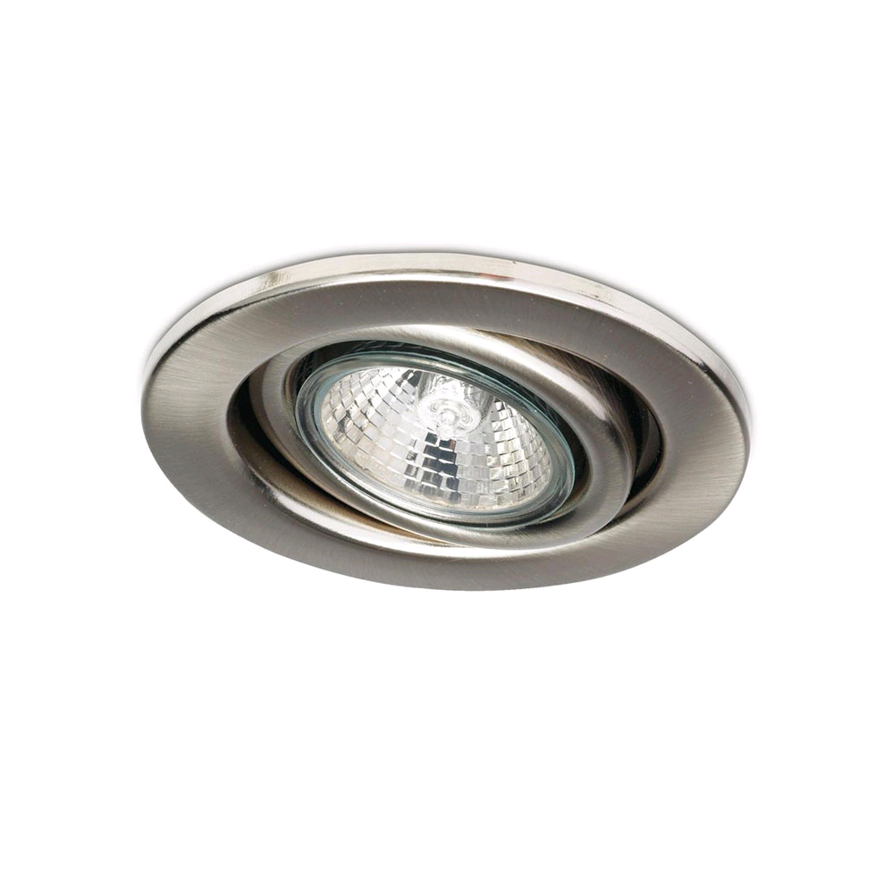 JCC HiSpot GU10 Tilt Downlight Brushed Nickel
