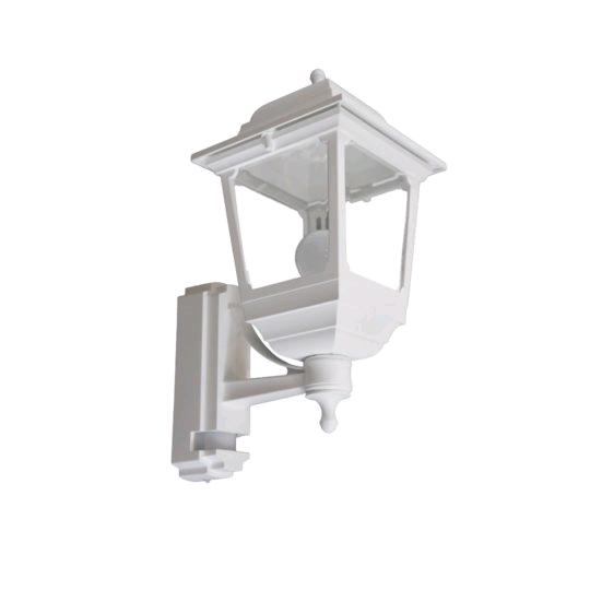 ASD Square Sided Coach Lantern White c/w PIR