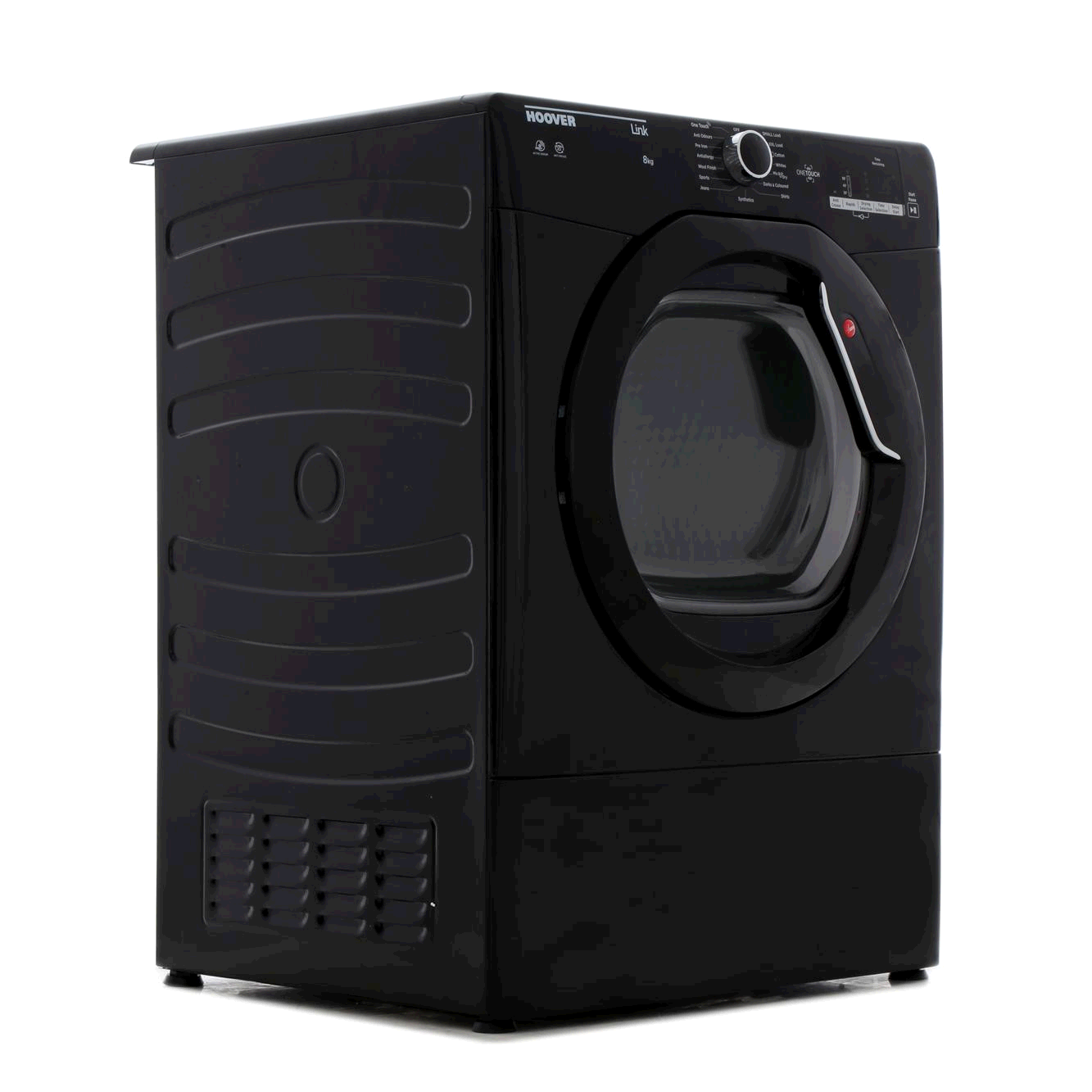 Hoover HLV8DGB  8kg , Vented, Sensor Tumble Dryer BLACK Glass Door LED Display