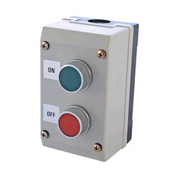 CED Push Button Control Station. 2Gang (IP65) On/Off Red