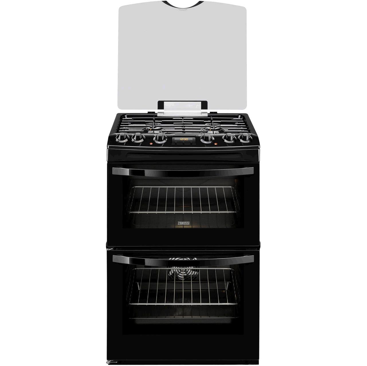 ZANUSSI Dual Fuel Black Freestanding cooker ZCK68300B