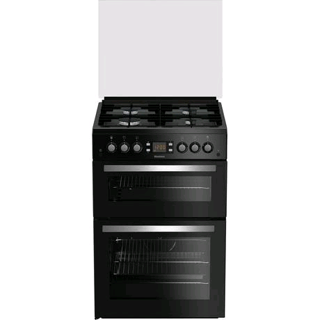 Blomberg Double Oven Gas Cooker in Black H900 W600
