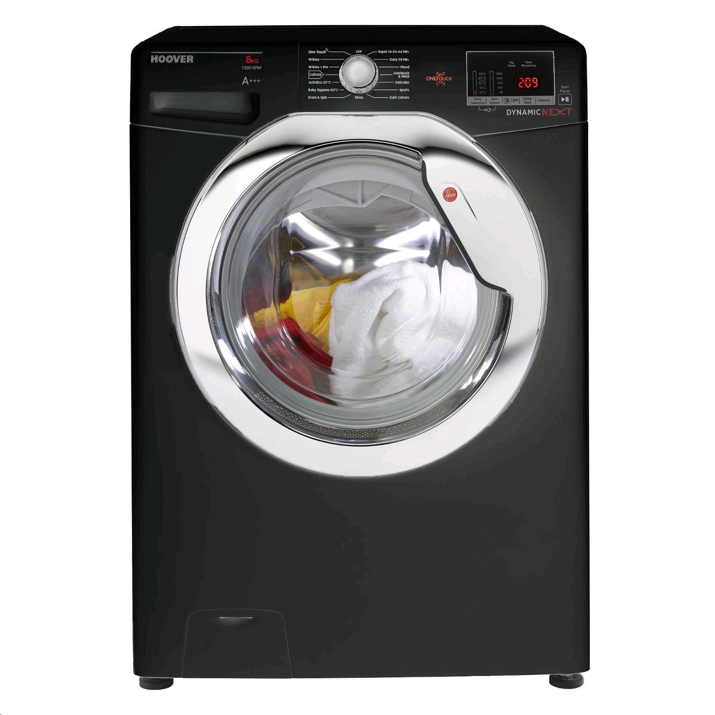 Hoover Washing Machine 8Kg 1500Spin Black