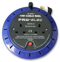 Pro-Elec S2208-2C 10mtr Extension Reel