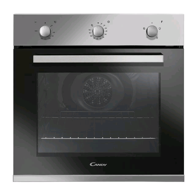 Candy 60cm Fan Single Oven, 65ltr, 4 Functions, Minute Minder, Stainless Steel, A Energy Rating Built in