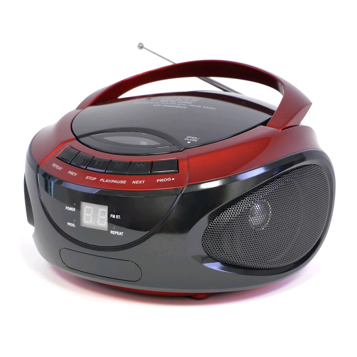 Lloytron Portable Stereo CD Player With 2 Band Radio Red/Black