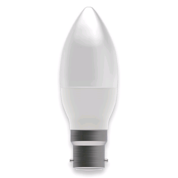 Bell 4w BC LED Opal Candle Warm White