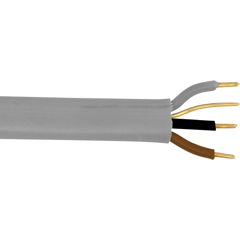 Cable 3Core & Earth 1mm Grey (50mtr Coil)